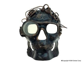 Steampunk mardi-gras halloween style mask