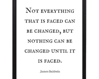 James Baldwin Famous Quote - Framed 8x10 - Afrocentric Art, Black Art, African American Art, Black History  **Free Shipping**