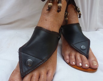Hippy Chic,Boho, Sole Pakashoes with Unique Leather Cover Just for YOU Free Shipping Switchable