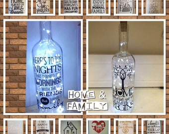 Family / Home light up bottles