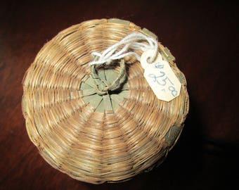 Antique Miniature Basket with Lid