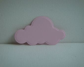 Cutout cloud pink drawing paper for scrapbooking and card