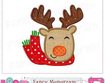 Reindeer applique,Christmas,Reindeer embroidery,Reindeer,Christmas applique,Reindeer design,Winter,Winter applique.-1677