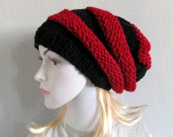 Winter Hat Knit Hat  Slouchy Beanie  Beanie  Black Hat Slouchy Hat Women Slouch Hat Oversized Hat Chunky Knit Women Knit Hat recyclingroom