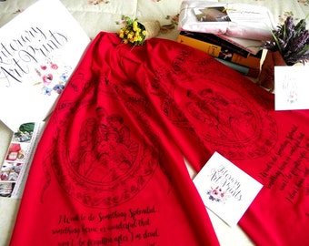 LITTLE WOMEN Book scarf Literary Book Scarf  Love Quote Scarf Bookish Gift  Christmas Gift Little Women Text Scarf