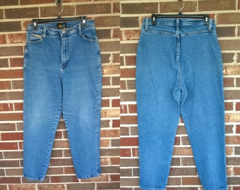 1980s High Waisted Action West Denim Jeans, 8/10