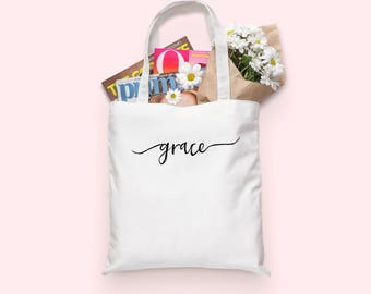 Grace Tote bag | Grace | Tote Bag | Tote | Canvas Tote Bag | Grace Upon Grace | Christian Gifts | Saved by Grace