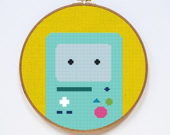 BMO, Adventure Time Cross Stitch Pattern, Easy Cross Stitch Chart, PDF Format, Instant Download