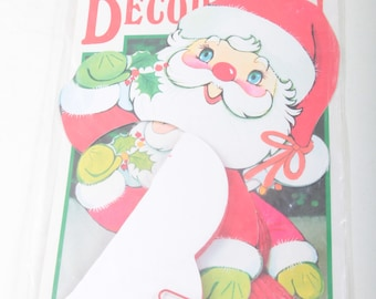 Santa, Honeycomb, Tissue, Centerpiece, Vintage, Paper, Ornament, Christmas, Holiday, Decor, Folding Figure, Package ~ The Pink Room ~ 170527