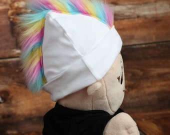 Rainbow Mohawk Hat Personalized Punk Rocker Baby Beanie