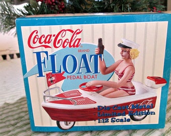 Coca Cola Float Pedal Boat -  Limited Edition Die Cast  - 1950's  - Dated 1997