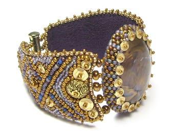 Viking Bead Embroidery Bracelet Digital PDF Pattern by Ann Benson