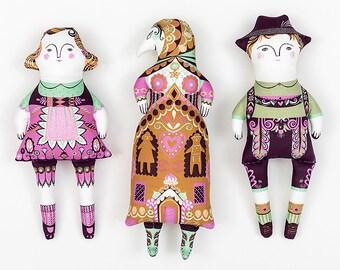 Hansel and Gretel / Cloth Kit - A silkscreen design by Sarah Young