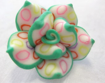 25mm Polymer Clay Rose Beads Set of Three (R16)