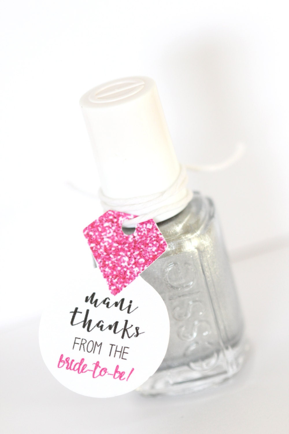 Nail Polish Favor Tags Bachelorette Party Thank You