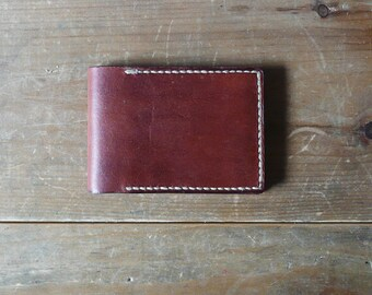 Men's leather wallet / card carrier, brown