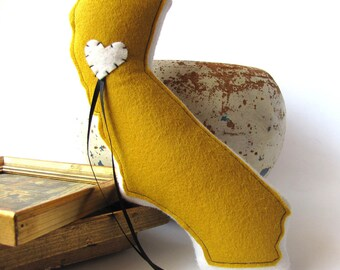 Customizable California State Ring Bearer Pillow