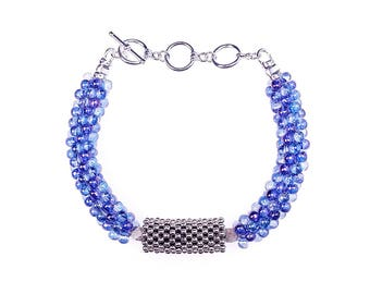 Crystal Blue Bubble Belle Bracelets