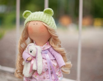 3. Textile doll Handmade doll Fabric doll Tilda doll Soft doll Cloth doll Collectable  doll Interior doll Gifts for her.