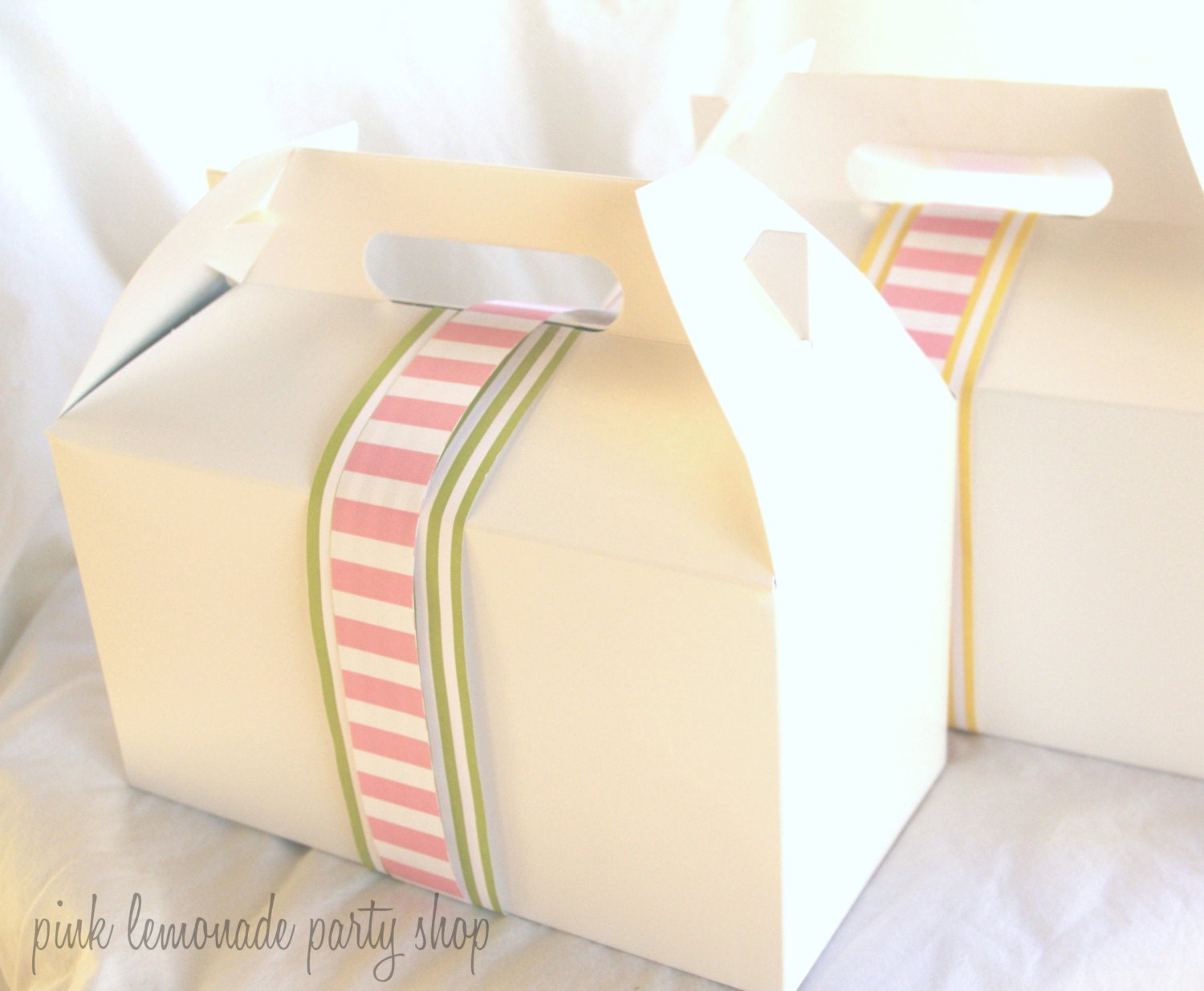 10White LarGe GaBLe BoXeS-9x5x5-nches-Party Favors-Wedding Favors ...