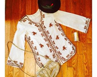 1970s Tunic / Bohemian Top / Vintage Blouse