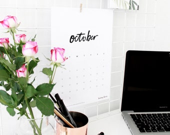 2017 Printable Calendar + Weekly Planner
