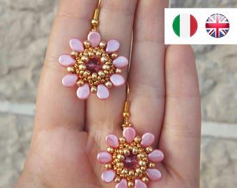 Earrings Little Flower - beading pattern