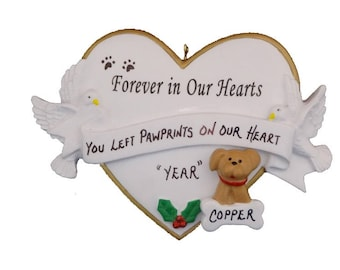 Dog or Cat Pet Memorial Personalized Ornament - Custom Pet Memorial Ornament - Pet Memorial Ornament