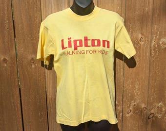 90s Lipton Tea shirt - Vintage March of Dimes shirt - Walking for kids T-shirt