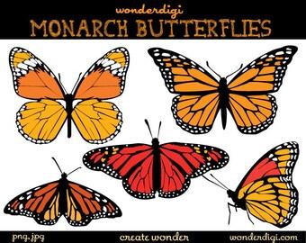 Butterfly Clipart - Monarch Butterflies Clip Art