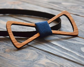 Rustic Wooden BowTie for Boyfriend Husband Father Groomsmen Best man Father of the Bride Groom Father 5 Wood Anniversary