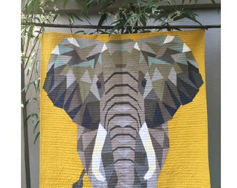 The Elephant Abstractions Quilt by Violet Craft - Print Quilt Pattern