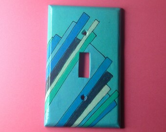 laser beams light switch plate