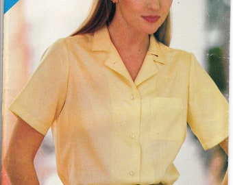 1980's sewing pattern Butterick See & Sew 3810 misses shirt size 8-10-12