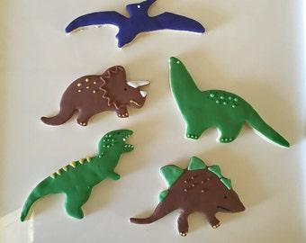 Dinosaur, 1 dozen, Tyrannosaurus Rex, Triceratops, Brontosaurus, Pterodactyl, Stegosaurus customized made to order