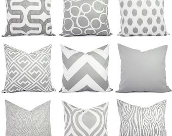 Grey Pillow Covers   Decorative Throw Pillows   Throw Pillow   Grey Pillows    Decorative Pillows   Pillow Sham   16 X 16 18x18 Pillow Cover