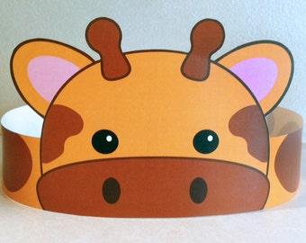 Giraffe Paper Crown - Printable