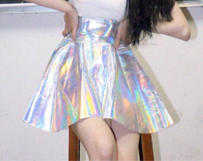 Featured listing image: Holographic Minx Techno Skirt