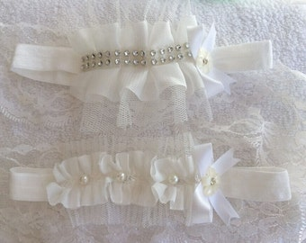Baby Infant Girls Diamante or Pearl Ruffle Headband Christening Ivory 0-18 month