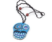 Blue Skull Necklace Skull...