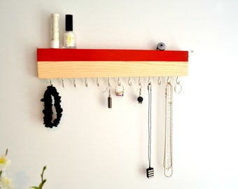 Minimalist Jewelry Organizer Wall HangingJewelry Holder Tie