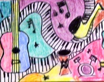 ACEO music themed
