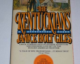 1976 The Kentuckians by Janice Holt Giles  Vintage paperback book