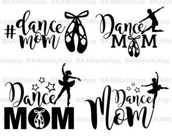 Dance mom svg - Dance mom vector - Dance mom bundle digital clipart for Design or more, files download, svg, png, dxf
