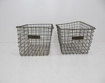 Vintage Wire Basket,  Locker Basket,  School Basket,  Pool Basket,  Gym Basket, American Wire Form Storage,  Metal Basket