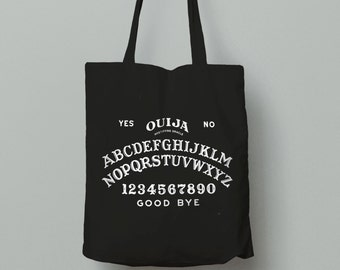 Ouija Tote Bag - Ouija Board - Occult Wiccan Tote Bag - Occult Graphic Tote - Occult Bag - Ouija Bag