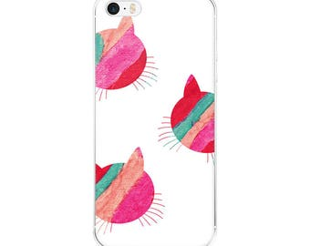 Cat iPhone - because cats art print feline love apple iphone cases plus plastic slim skinny fit snap on bevel cute hipster artsy design