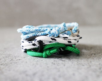Cord Tiga - custom nylon cord wrap bracelet, adjustable