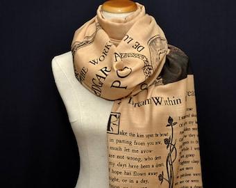 A Dream Within a Dream by Edgar Allan Poe  Shawl Scarf Wrap