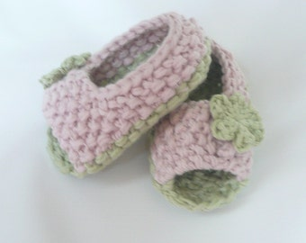 Instant DIGITAL DOWNLOAD Knitting PATTERN Booties Baby Peeptoe Sandals Shoes